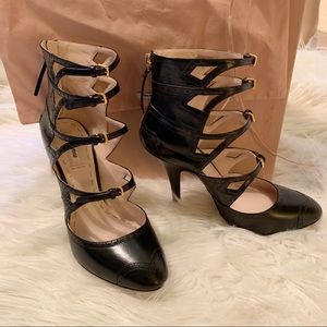 NWT Miu Miu 4 Strap Booties Mary Jane Heels 39.5